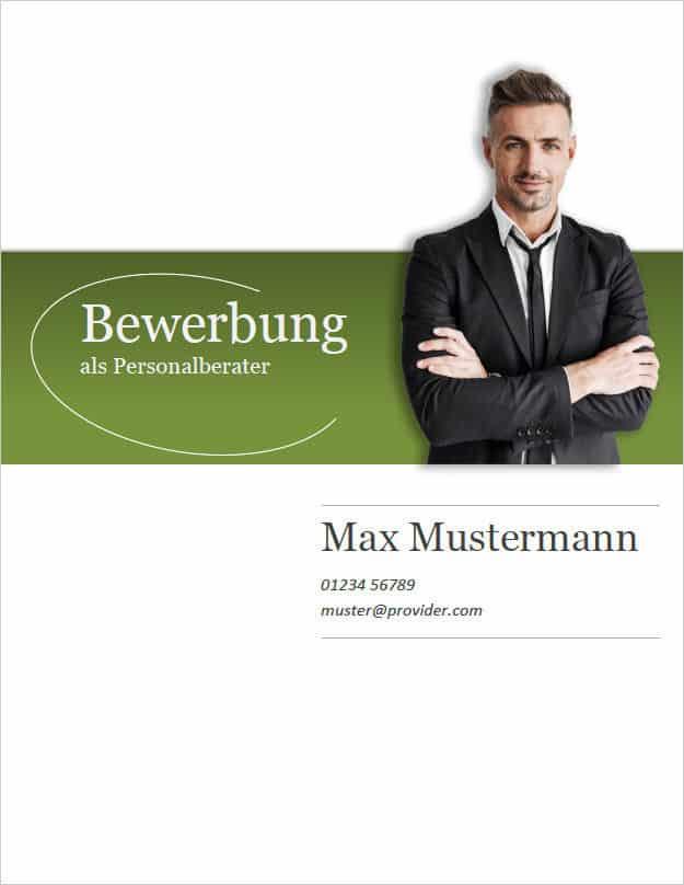 Bewerbung Deckblatt classic business 2