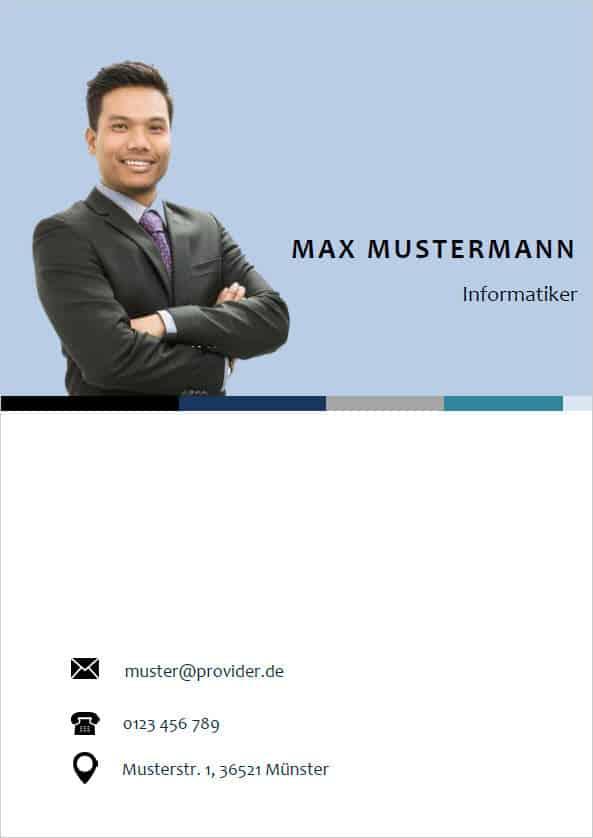 Bewerbung Deckblatt modern business 4