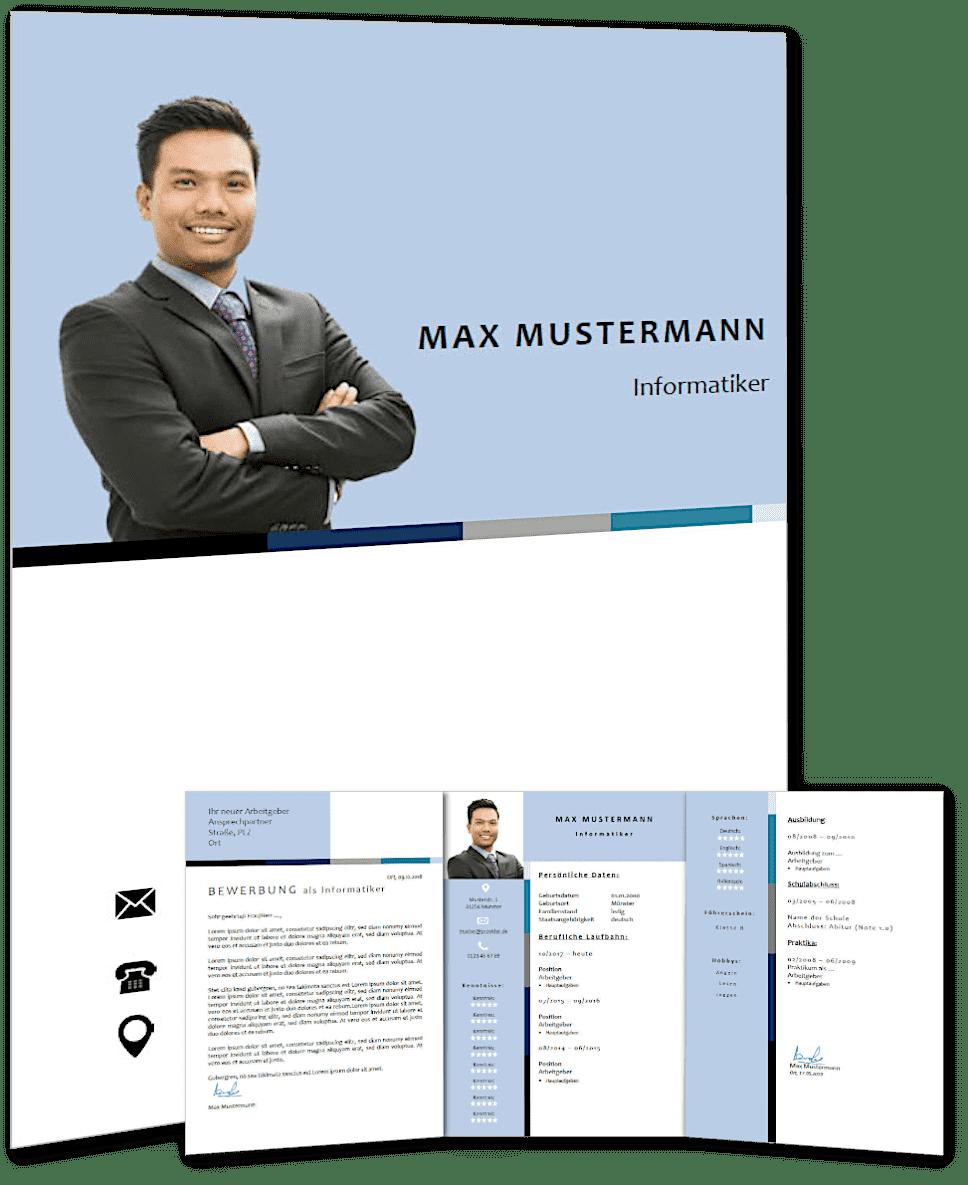 Lebenslauf Vorlage 'modern business' #4