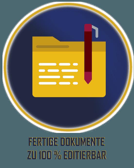 Bewerbungsunterlagen editierbar