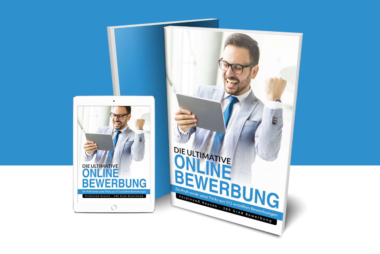 Bewerbung eBook Buchcover Mockup