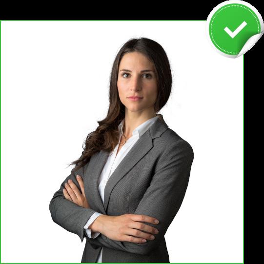 Bewerbungsfoto mit Businessklamotten